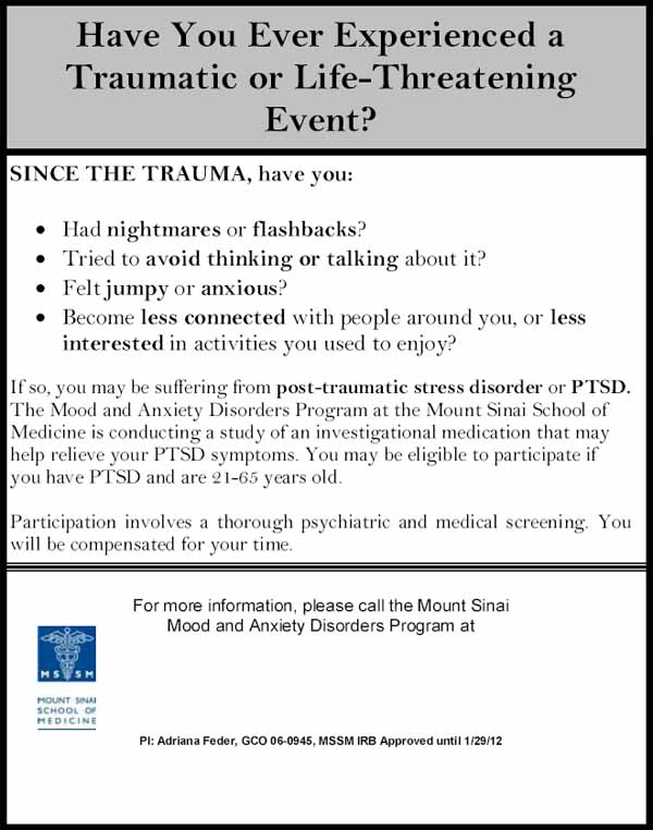 Post-Traumatic Stress Disorder (PTSD) - New York NY