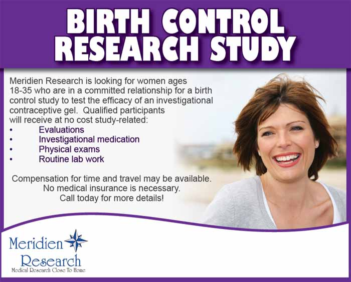 a study on birth control A new study of the best available scientific evidence suggests there's no link between birth control and depression.