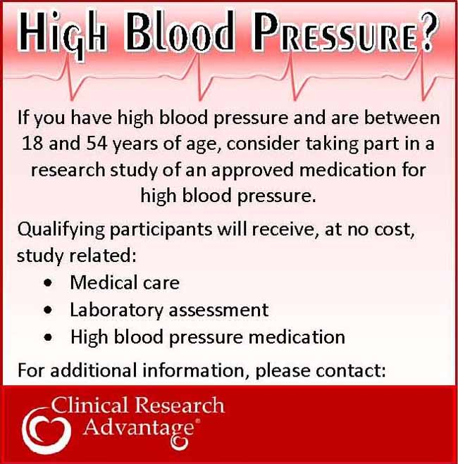 High blood pressure las vegas nv clinical trial 11850 for Research study flyer template