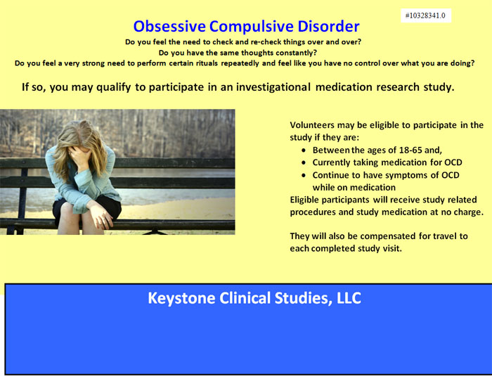 a study of obsessive compulsive disorder Obsessive-compulsive disorder is an anxiety disorder in which people have unwanted and repeated thoughts, feelings, ideas, sensations (obsessions), or behaviours that make them feel driven to do something (compulsions.