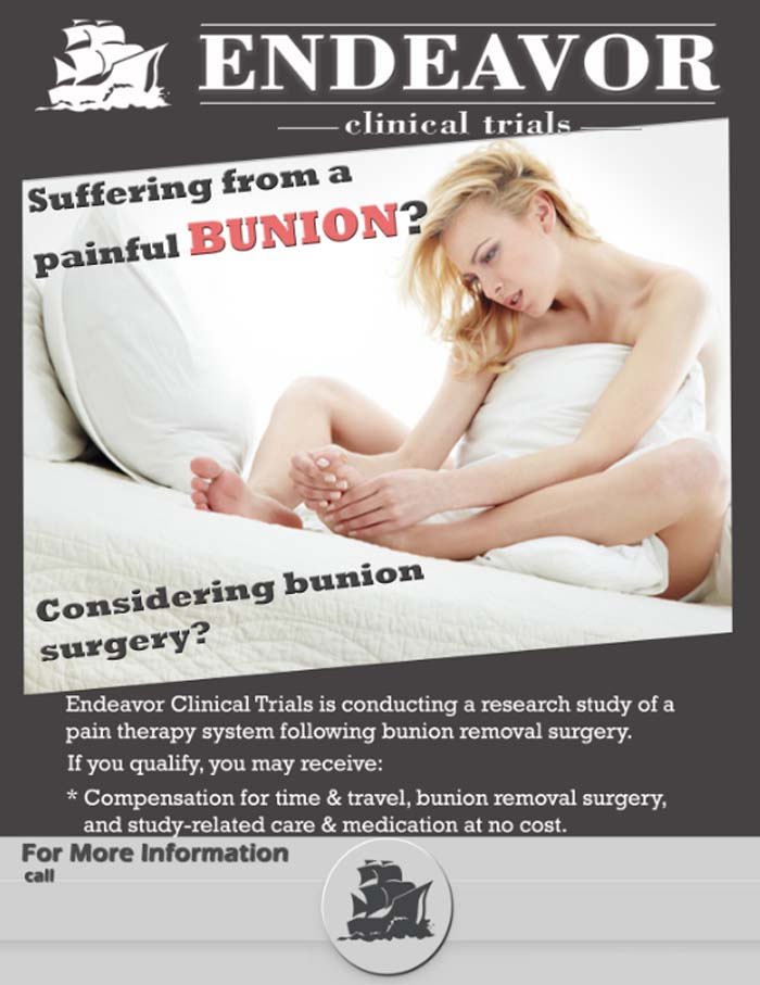 Bunion - San Antonio TX (Clinical Trial # 14156)