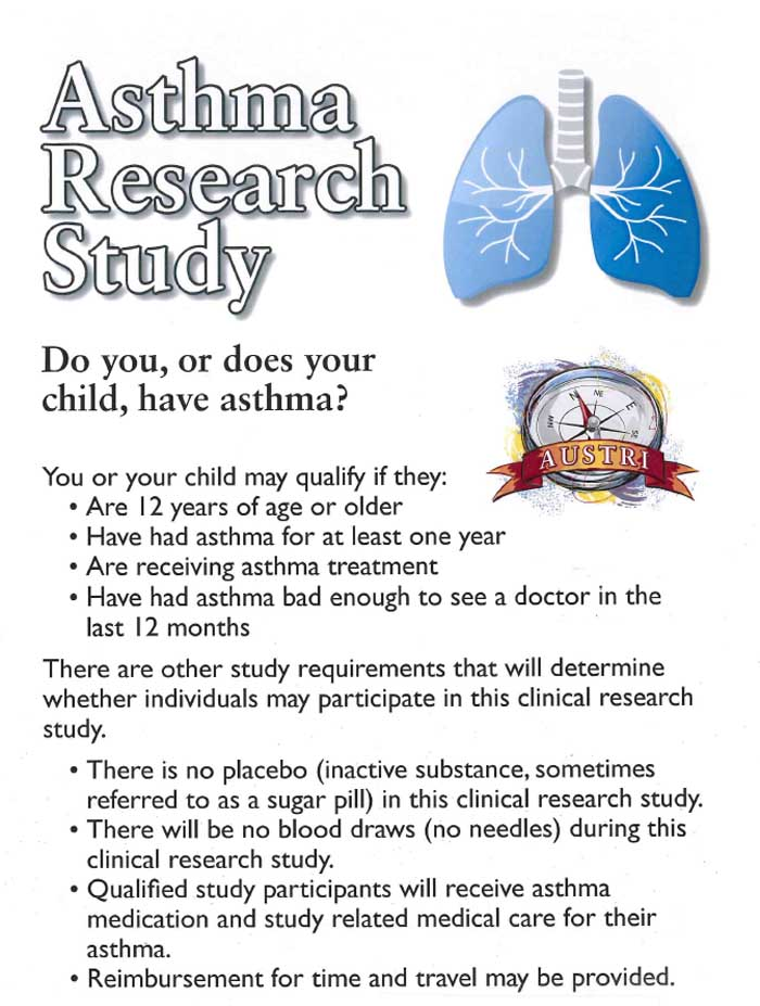 Asthma Clinical Research Trials | CenterWatch