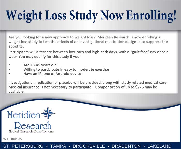 Weight Loss St Petersburg Fl Clinical Trial 20403