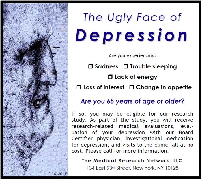 a study of clinical depression The sertraline vs electrical current therapy for treating depression clinical study: results from a factorial, randomized, controlled trial.