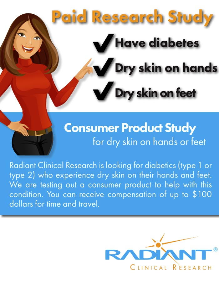Diabetes and Dry Skin – Chandler AZ (Clinical Trial # 31519)