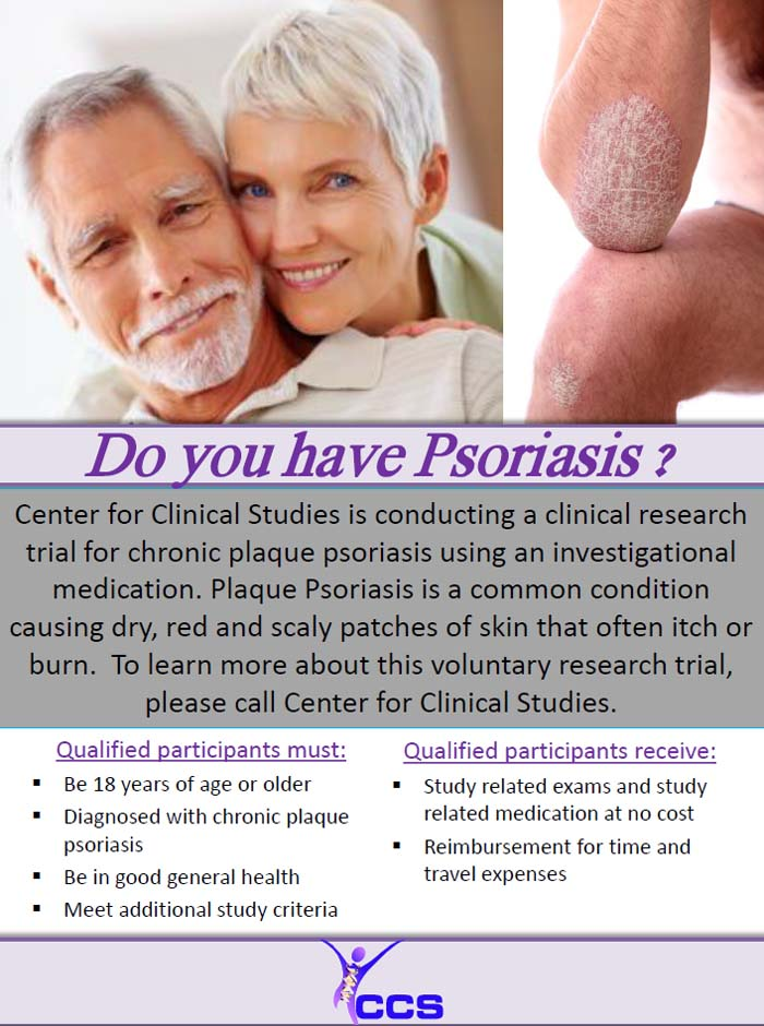 Clinical trials provide medication for psoriasis patients at no cost and provide reimbursement for transportation to the participant 3