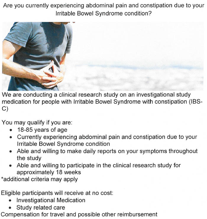 Irritable Bowel Syndrome (IBS) Clinical Research Trials ...