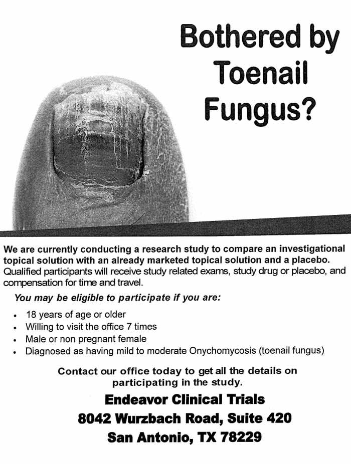 Toenail Fungus San Antonio Tx Clinical Trial 34813
