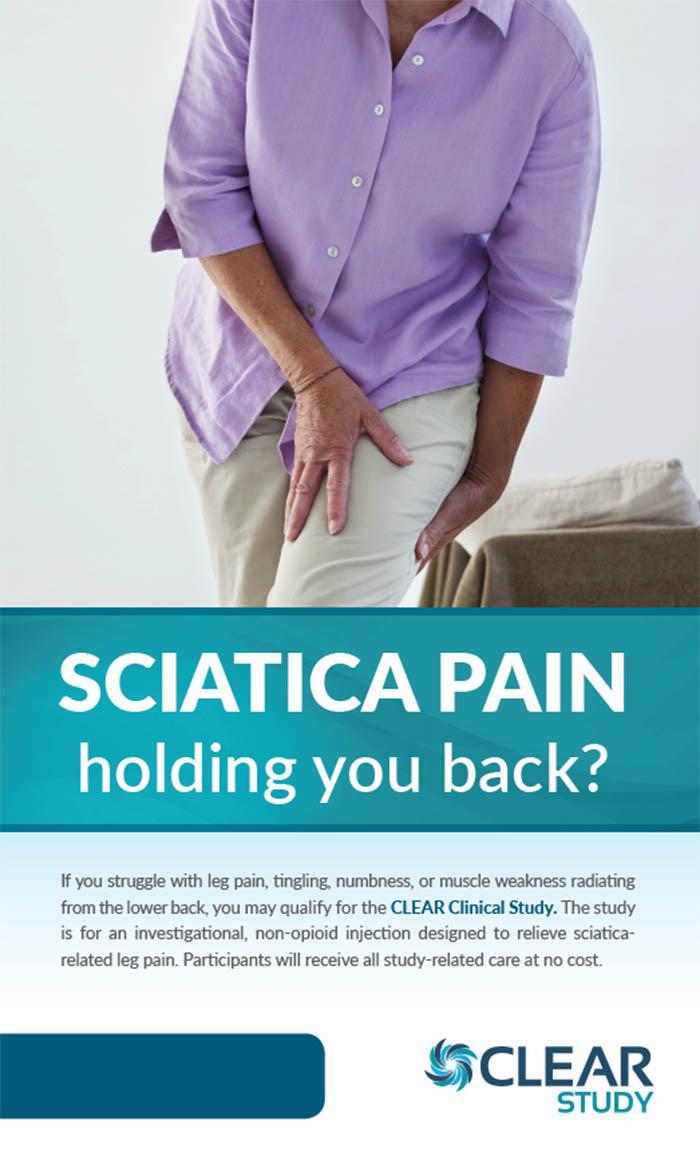 Leg Pain (Sciatica) - La Jolla CA (Clinical Trial # 41159)
